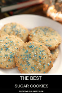 The Best Sugar Cookies Decorated with Blue and Gold Sugar Crystals for Hannukah