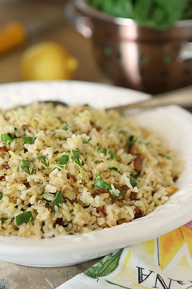 Sundried Tomato and Spinch Rice Pilaf