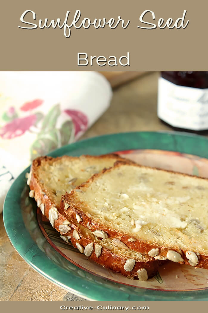 Buttered Slices of Sunflower Seed Bread on Green Plate