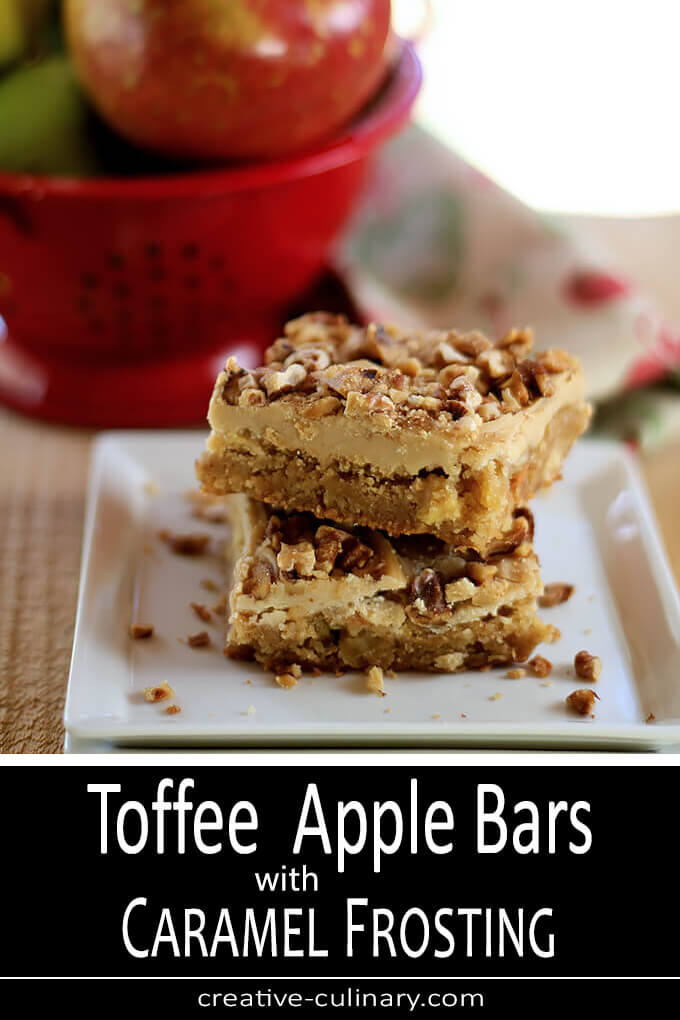Toffee Apple Bars with Caramel Frosting PIN