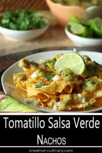 Tomatillo Salsa Verde (Green Salsa) Used in Green Salsa Nachos