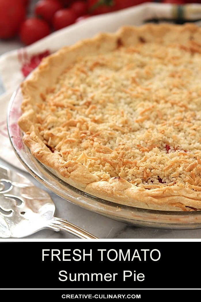 Whole Fresh Tomato Pie with Parmesan and Breadcrumb Top Crust
