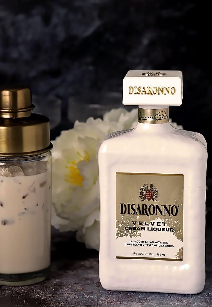 Bottle of Disaranno Velvet Cream Liqueur