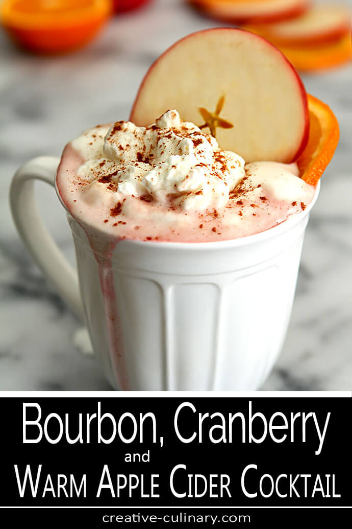 Bourbon, Cranberry, and Warm Apple Cider Cocktail