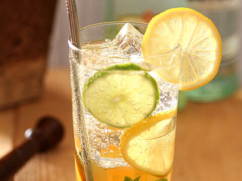 Winter Citrus Mojito with Liimoncello